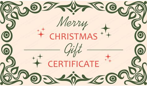 Formal gift certificate template Beautiful Printable Gift - Christmas Certificates Templates For Word