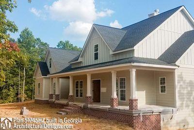Modern Farmhouse Plan 51745HZ Comes To Life In Georgia