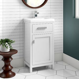 Ginnifer 12 X 36 Recessed Medicine Cabinet With 4 Adjustable Shelves In 2020 Bathroom Vanity Single Bathroom Vanity Vanity Set
