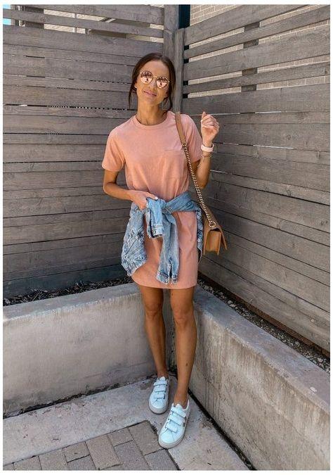 t-shirt dress outfit summer casual