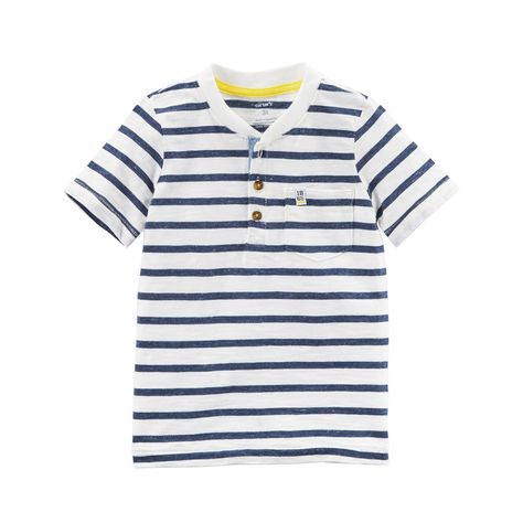 18 Months Carters baby boys blue striped button shirt