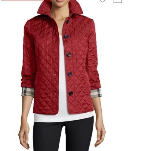 Burberry Brit Ashurst Diamond Quilted Jacket Red Size M Fashion Clothing Shoes Accessories Womensclothing Burberry Quilted Jacket Quilted Jacket Jackets
