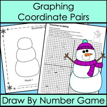Graphing Coordinate Pairs Game Draw By Number Winter