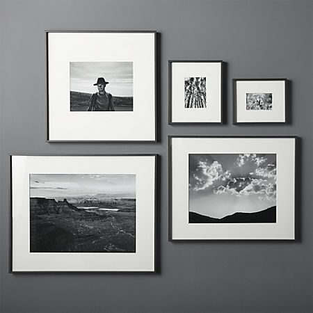 Gallery Black Frames With White Mats Cb2 Picture Gallery Wall Picture Frame Wall Frames On Wall