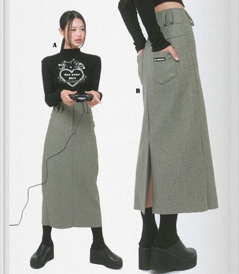 Japanese Street Fashion, Korean Fashion, Aesthetic Fashion, Aesthetic Clothes, Cool Outfits, Fashion Outfits, Womens Fashion, Kreative Portraits, 2000s Fashion