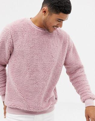 Soul Star Mens Plain Knit V-Neck Jumper Casual Basic Sweater Pullover Top
