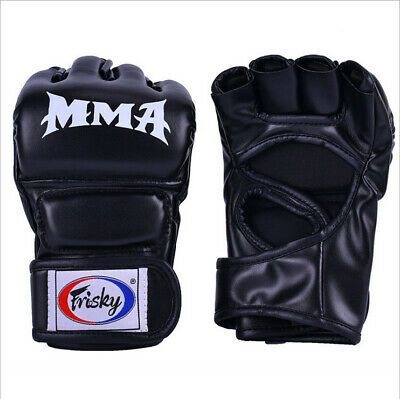 Sponsored Ebay Adjustable Mma Gloves Half Finger Boxing Fight Gloves Half Finger Boxing Gloves In 2020 Mma Boxing Gloves Boxing Gloves Punching Bag Gloves