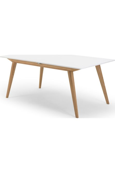 Made Natural Oak White Dining Table Extendable Dining Table