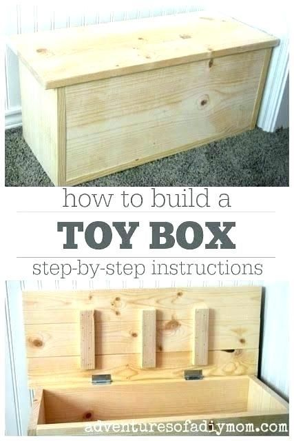 Diy Wooden Toy Box Bench Wooden Toy Boxes Wooden Trunk Diy