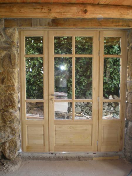 Porte fenêtre cintrée PVC imitation bois Un projet de menuiseries à