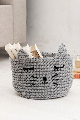 Animal Knitted Storage Basket Storage Baskets Buy A Cat Storage