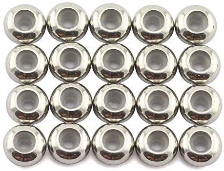 100Pcs Stainless Steel Spacer Beads Loose Beads DIY Craft Charms  Making//