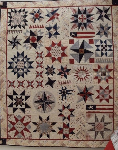 Red, white and blue...and stars...two of my favorite things combined in an awesome quilt...love it!!  - Live a Colorful Life