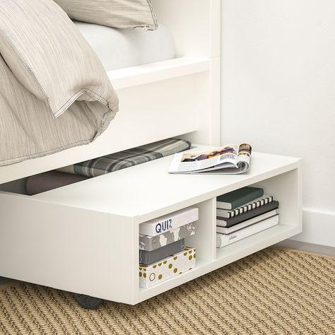 IKEA - FREDVANG Underbed storage/bedside table, white