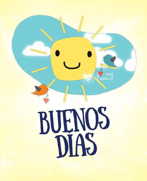 Un vídeo de buenos días tan divertido como simpático y entrañable. Un sol sonriente en las nubes es atravesado por dos tiernos pajaritos. Compártela para desearte un maravilloso día.
