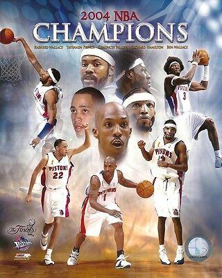 Sponsored 2004 Nba Finals 8x10 Team Photo Chauncey Rip Ben Rasheed Detroit Pistons Champs In 2020 2004 Nba Finals Nba Champions Detroit Pistons Bad Boys