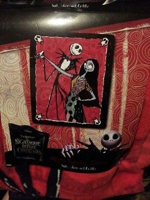 The Nightmare Before Christmas Jack Sally Micro Raschel Throw ...
