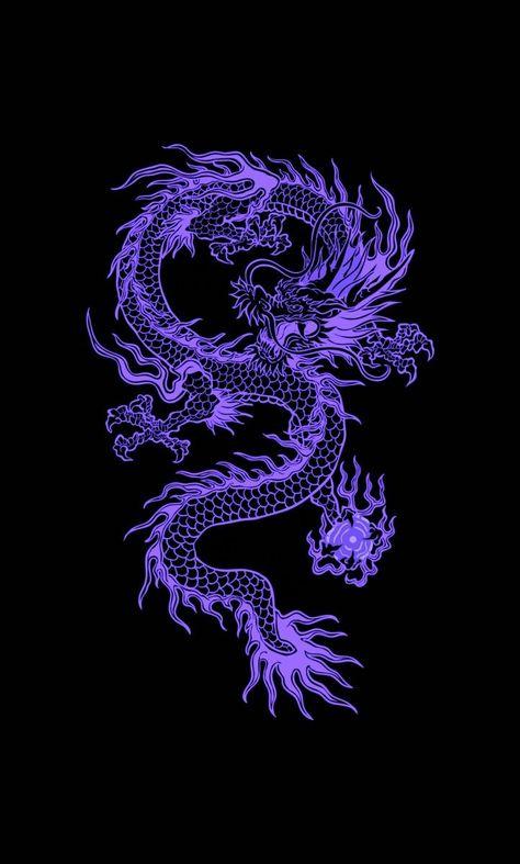 Pin by Urals on my purple in 2021 | Dragon wallpaper iphone, Wallpaper iphone neon, Japanese wallpaper iphone