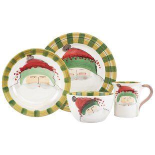 Twas The Night Mixed Salad Plates Set Of 4 Christmas Dinnerware Sets Christmas Dinnerware Christmas Salad Plates