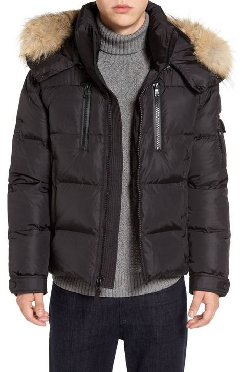 SAM. Mens Mountain Quilted Down Jacket Black XL $595 #SAM #Quilted