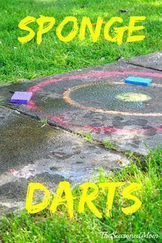 Sponge Darts -- Cheap and easy summer activity for the kids! #campingactivities