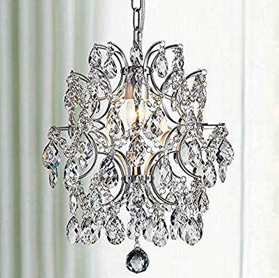 Bestier Modern Pendant Chandelier Crystal Raindrop Lighting Ceiling Light Fixture Lamp Fo Crystal Chandelier Ceiling Light Fixtures Crystal Chandelier Entryway