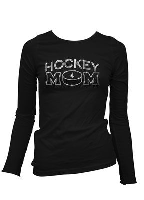 Hockey Mom - $23.99 at personalize-it.ca, Custom Rhinestone Apparel