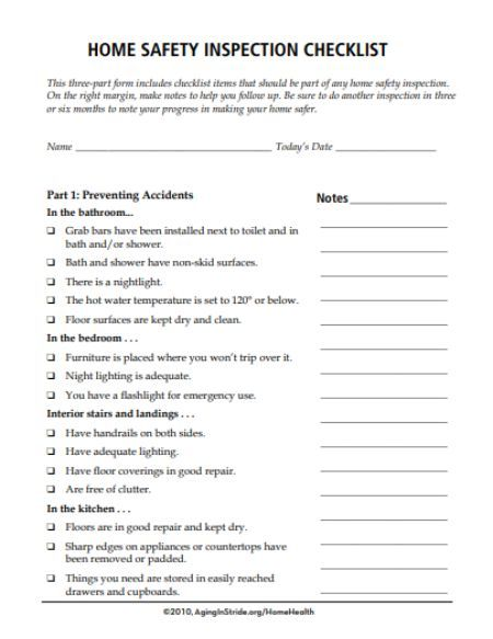Home Inspection Checklist Template 20 Best And Free Printable Templates In Pdf Format Templat Inspection Checklist Checklist Template Home Safety Checklist