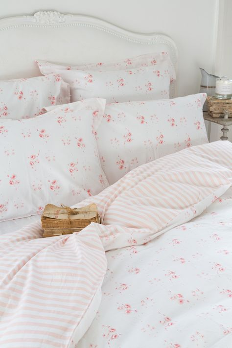 CABBAGES & ROSES for John Lewis   Catherine Rose Pink Bed Linen