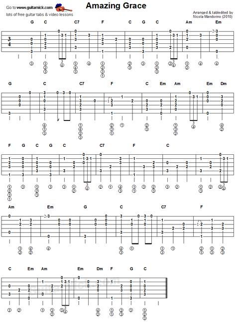 Amazing Grace With Images Basic Guitar Lessons Guitar Lessons