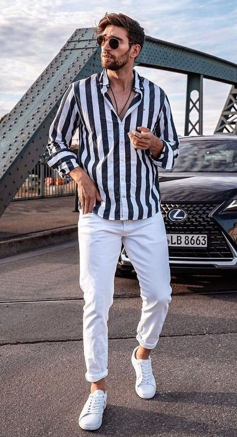 How To Style Striped Shirts 20