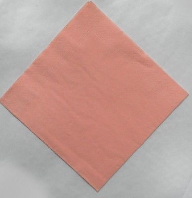 Peach Napkins 50 Top Quality 40cm 3 Ply Many Other Colours Napkins Pink Napkins Peach