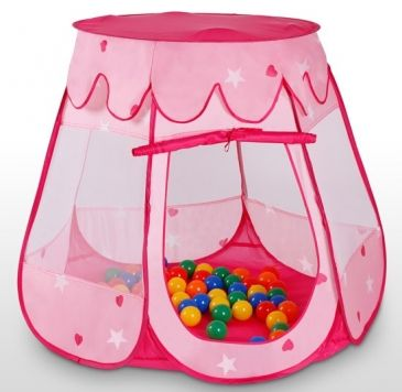 infantastic®   Mädchen Kinderzelt mit 100 bunten Bällen   Playing tent for girls with 100 balls   Jago24 (KDZT04)