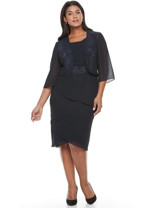 324b32e105a3 Maya Brooke Plus Size Le Bos Tiered Georgette Evening Gown & Jacket Set  #light#silhouette#FEATURES
