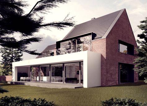 Specifiek: Veranda/ uitbouw. Strak, breed en licht. Uitzicht naar achteren voor keuken en woonkamer?