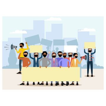 Concept Demonstration Protest Carrying The Banner Man Background Equipment Png And Vector With Transparent Background For Free Download Banner Graphic Illustration Cartoon Man