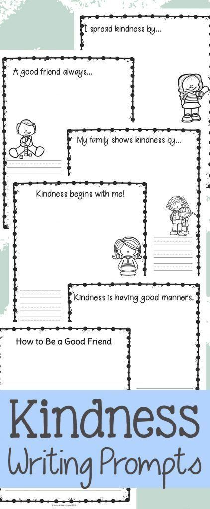 20 Kindness Worksheets For Elementary Students Worksheet From Home In 2020 Kindergarten Writing Prompts Writing Prompts For Kids Kindergarten Writing Activities