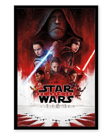 Star Wars Episode 8 One Sheet Framed Poster Zulily Zulilyfinds Star Wars Episodes Star Wars Poster Star Wars Watch