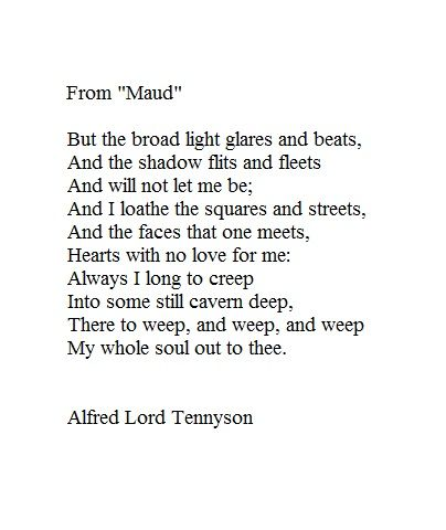 Maud Alfred Lord Tennyson Poetry Classic Tennyson Poems
