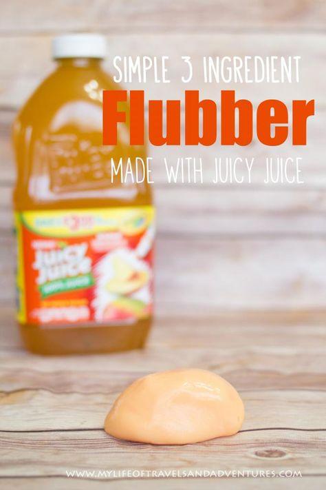 Simple 3 Ingredient Flubber   #Sensory #Flubber #Playdough #ad
