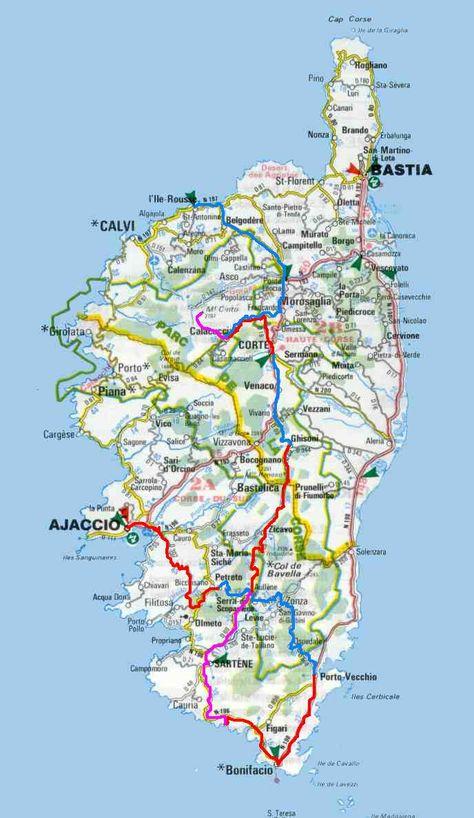 Mapa Corcega Y Cerdeña.Corcega En 2019 Cerdena Y Francia