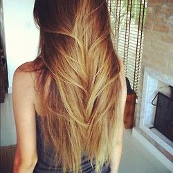 beautiful straight light brown hair