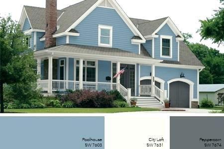 Light Grey Exterior Paint Blue Exterior Paint Colors Light Blue