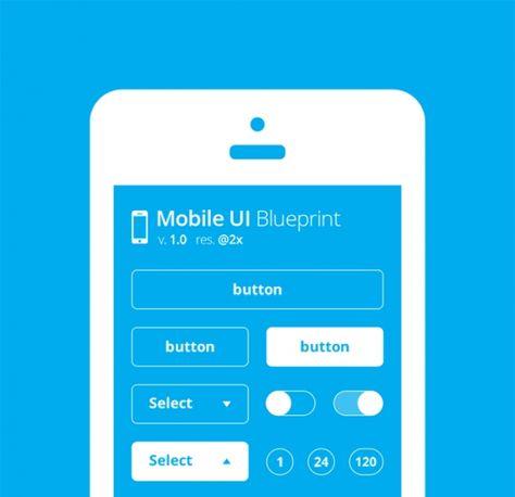 Mobile ui blueprint design templates pinterest malvernweather Image collections