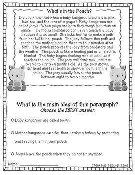 Main Idea Practice Pack Nonfiction Passages Nonfiction Passages Main Idea Differentiation In The Classroom