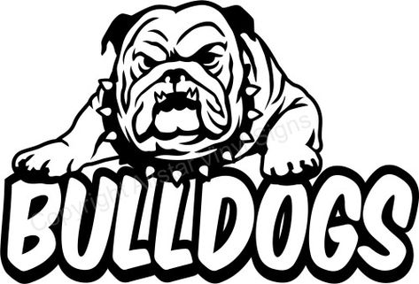 Bulldogs School And Team Mascot Car Window Stickers Vinyl