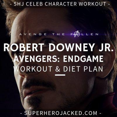 robert downey jr diet plan