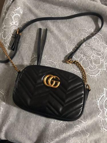 34347b04072206 Authentic Gucci Hand Bag Soho 2WAY Black Leather 308945 | eBay
