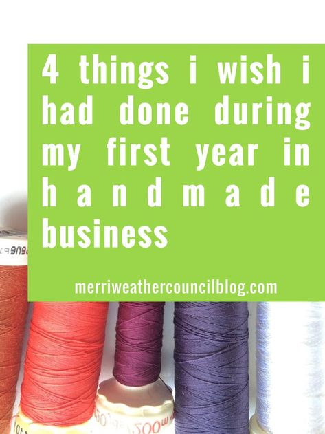 Year One of Your Handmade Business
