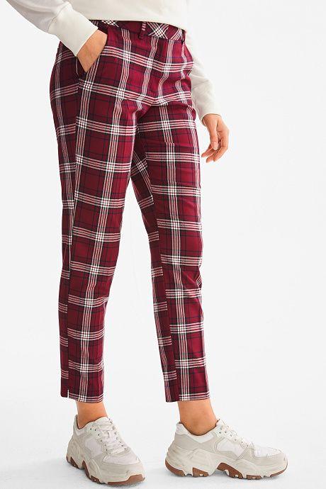 Pantalon De Cuadros C A Pantalones De Cuadros Pantalones Vaqueros Mujer